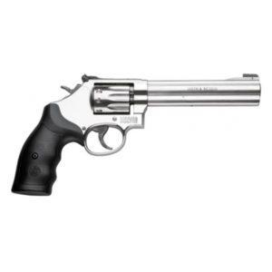 S&W 617 SA/DA .22LR Stainless 6″ Revolver Firearms