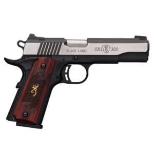 Browning 1911-. 380 ACP Black Label Medallion Pro Handgun Firearms