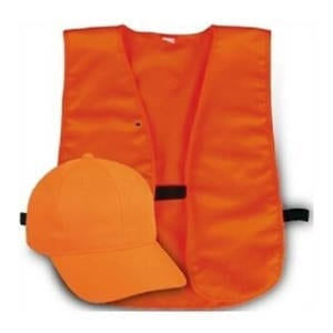 Outdoor Cap Adult Hunter's Safety Cap and Vest Combo Blaze Orange Caps & Hats