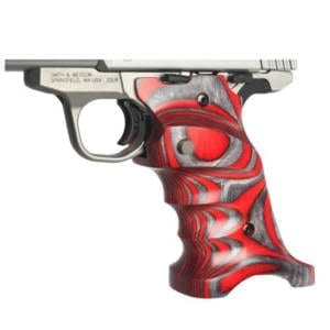 Volquartsen Laminated Wood Grips for Mark IV Model (Red) Firearm Accessories
