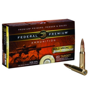 Federal Gold Medal 308 Winchester Ammunition 168 Grain .308 Winchester