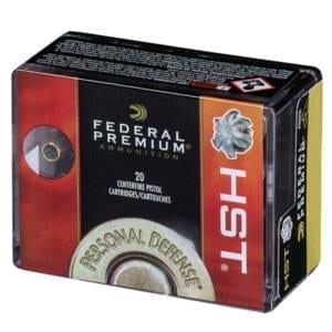 Federal Personal Defense HST 9mm Luger JHP Ammunition 9MM