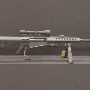 BARRETT 82A1 – Black .50BMG Rifle w/ ABS Power Scope Firearms