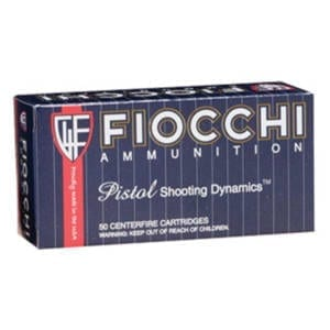Fiocchi Pistol Shooting Dynamics, .38 Special, FMJ (Single Box) .38 Special
