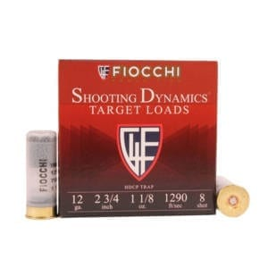 Fiocchi SD Clay Target 12 Gauge – 25 Rounds 2-3/4″ #8 Shot 1-1/8oz (Case) 12 Gauge