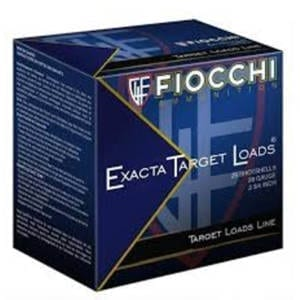 Fiocchi Exacta Target Loads 28 Gauge 2-3/4″ MAX 3/4 oz #9 Shotshells – (Single Box) 28 Gauge