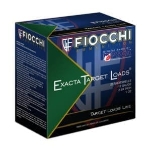 Fiocchi Exacta Target Line 12 Gauge  2-3/4″ 8 Shot (Single Box) 12 Gauge