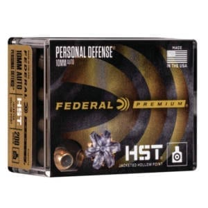 Federal Personal Defense HST 10mm Auto Ammunition 20 Rounds 200 Grain HST JHP 1130fps Ammunition