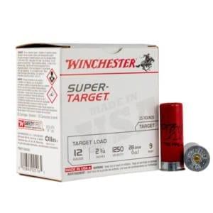 Winchester Super-Target 12 Gauge Ammunition 25 Round Box 2-3/4″ #9 Lead 1oz Ammunition