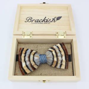 Brackish Blue Chuka Feather – 4.5″ x 2.5″ BowTie Bow Ties