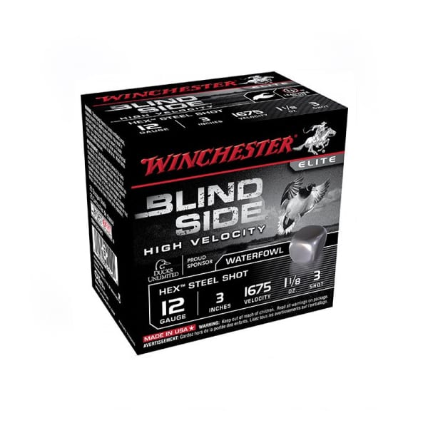 Winchester Blind Side 12 Gauge Ammunition 250 Rounds 3″ #3 Steel 12 Gauge
