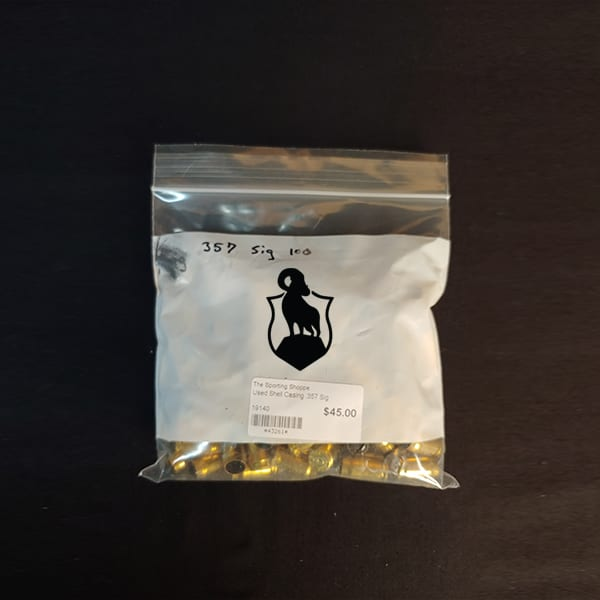 Once Fired Brass – .357 Sig 100 Rounds Firearm Accessories