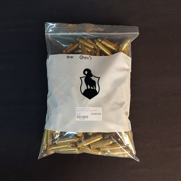 Once Fired Brass – .308 250 Rounds Firearm Accessories