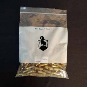 Once Fired Brass .300 AAC Blackout 250 Rounds Once Fired Brass