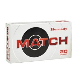 Hornady Match 6.5 Creedmoor Ammunition 20 Rounds 120 Grain ELD Match Polymer Tip Projectile Ammunition