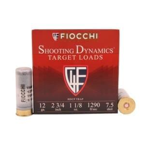 Fiocchi Target Heavy Shooting Dynamics Shotshells 12ga 2-3/4 in 1 oz 1200 fps Ammunition