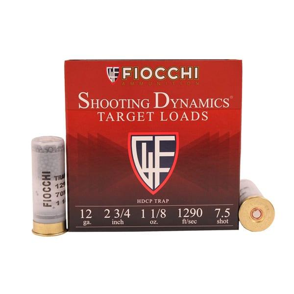 Fiocchi Target Heavy Shooting Dynamics Shotshells 12ga 2-3/4 in 1 oz 1200 fps 12 Gauge