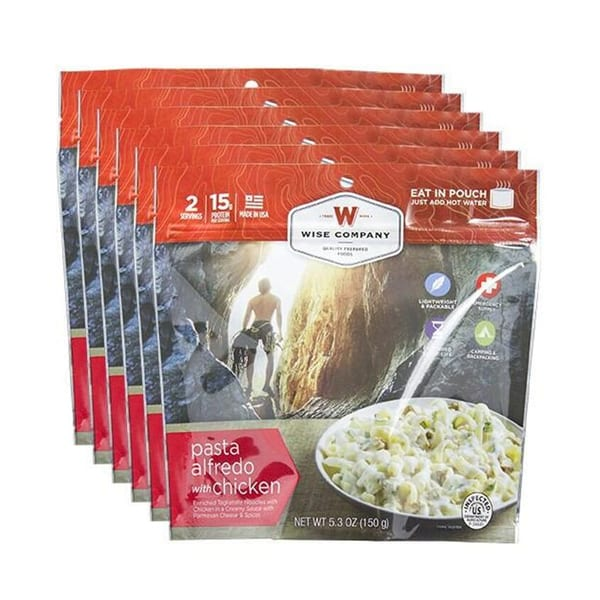 Wise Company Camping Freeze Dried Pasta Alfredo with Chicken Camping Gear