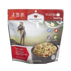 Wise Foods Entre Dish Teriyaki Chicken and Rice Camping Gear