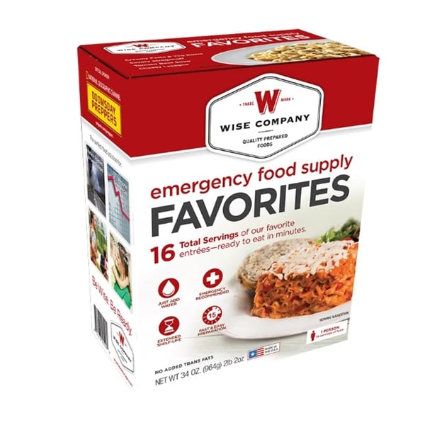 Wise Company Emergency Food Supply Favorite Camping Gear