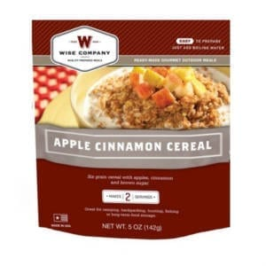 Wise Company Camping Freeze Dried Food Apple Cinnamon Cereal Camping Essentials