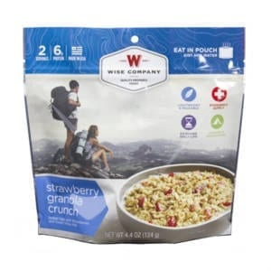 Wise Foods Strawberry Granola Crunch Camping Gear