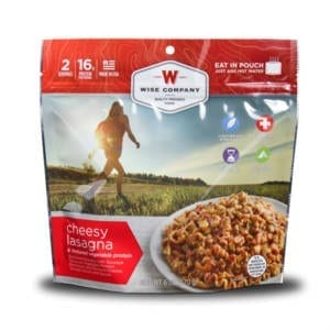 Wise Company Outdoor Cheesy Lasagna Freeze Dried Food Camping Gear