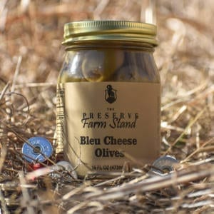 Preserve Farm Stand – Bleu Cheese Stuffed Olives 16oz Preserve Farm Stand