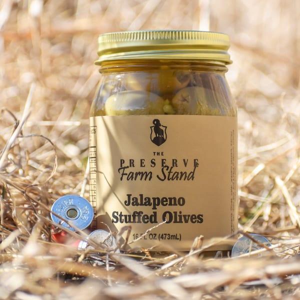 Preserve Farm Stand – Jalapeno Stuffed Olives 16oz Preserve Farm Stand