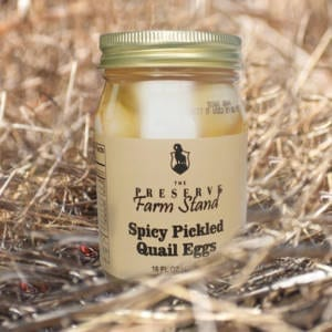 Spicy Pickled Quail Eggs Preserve Farm Stand