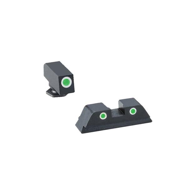 AmeriGlo GL-5113 Sight Set Tritium 3-Dot White Outlines Firearm Accessories