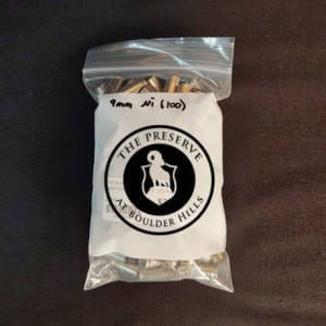Once Fired Brass – 9MM Silver 100 Rounds Firearm Accessories
