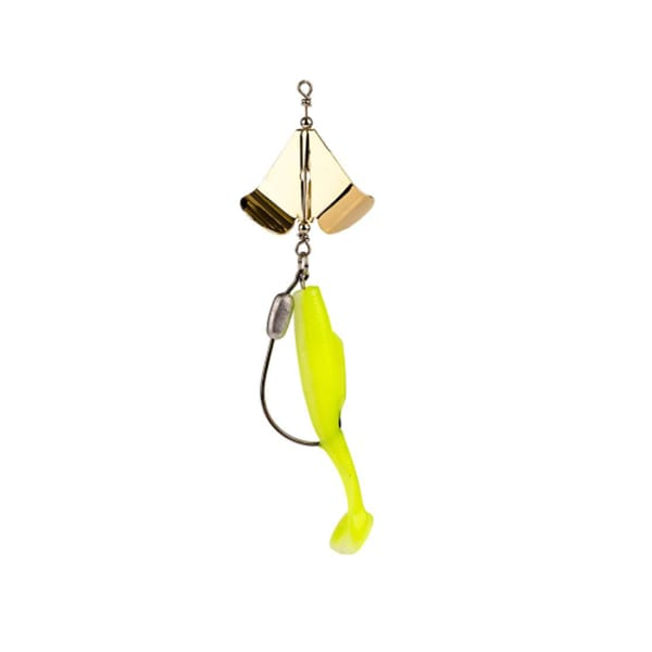 Strike KingSpot Tail Special 1/4oz Glow Chartreuse Laminate Fishing