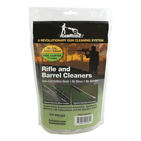 RamRodz Barrel Cleaner .30/.308/7.62mm Caliber Cotton Swabs Gun Cleaning & Supplies