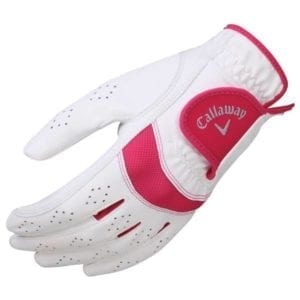 Callaway Women's X-Tech Left Golf Glove, Large – White/Pink Gloves