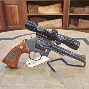 Pre-Owned – Smith & Wesson Model 17-5 22LR Revolver w/ Scope Double Action