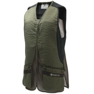 Beretta Silver Pigeon EVO Vest – Green & Chocolate Brown Clothing