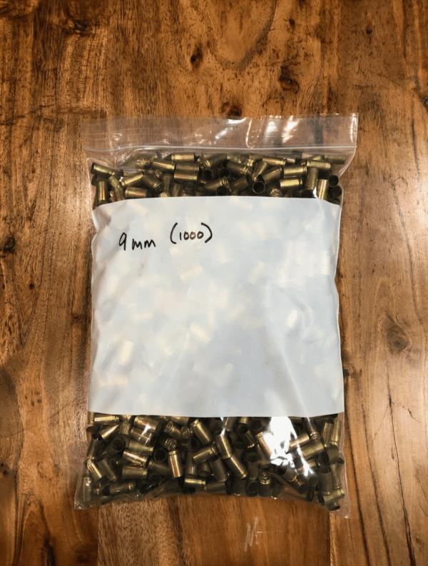 Once Fired Brass 9MM/380ACP 1000 Rd Firearm Accessories