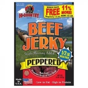 Hi-Country Beef Jerky, 8 oz – Peppered or Teriyaki Camping Essentials