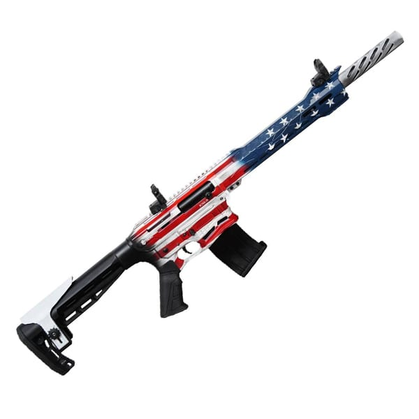Legacy Citadel BOSS-25 Semi-Auto 12GA 18.75″ USA Flag Firearms